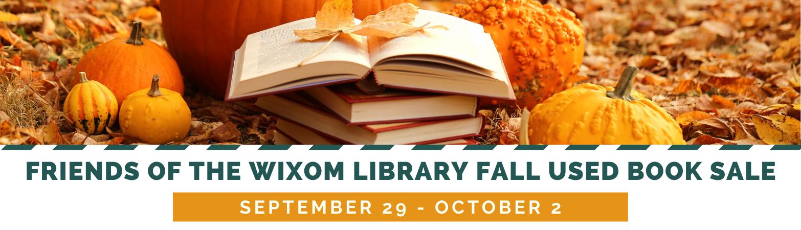 Falll Book Sale  September 29 - October 2