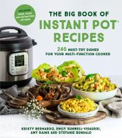 The Big Book of Instant Pot Recipes by Kristy Bernardo cover
