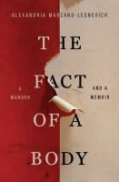 The Fact of a Body by Alex Marzano-Lesnevich cover