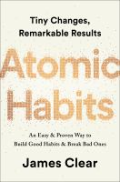 Atomic Habits by James Clear cover