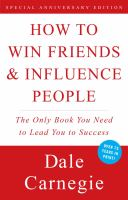 How to Win Friends & Influence People by Dale Carnegie cover