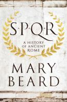 SPQR: A History of Ancient Rome by Mary Beard cover