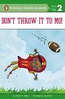 Don't Throw it to Mo by David A. Adler cover