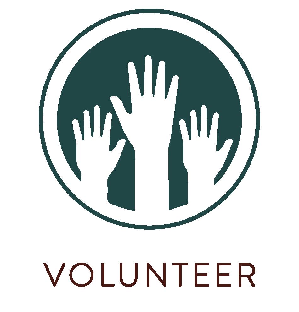 Volunteer hands symbol